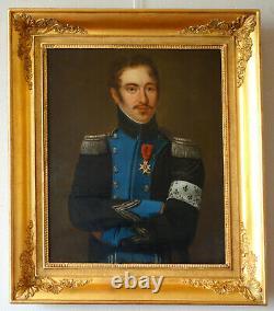 Portrait début XIXe d'un officier royaliste de l'Armée de Condé pendant l'Empire