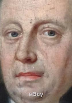 Portrait gentilhomme Epoque XVIIIème Ecole française Huile sur toile Louis XVI