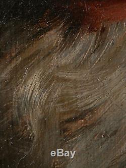 RARE TABLEAU XIX Louis PRIOU (1845-1917) PEINTURE HUILE PORTRAIT HOMME 1871