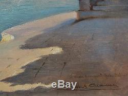 Raoul Cremieux Tableau Venise Bassin Saint Marc Bateau Paysage Italie Huile
