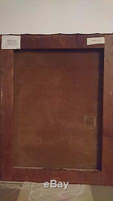 Rare ancienne huile sur toile, jeune fille rousse, signée Henner, XIXème