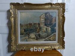 Raymond Besse, Huile sur toile, Paris Montmartre, Coin de la rue Saint Vincent