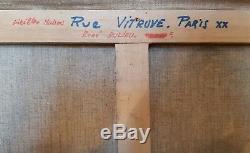 René DULIEU Huile sur toile PARIS