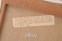 Robert VAN CLEEF (1914-) Nue allongée Huile sur toile 46 x 38.5 cm