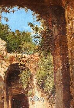 Ruines, Capri, Italie, tableau, paysage, antiquité, Grand Tour, Hubert Robert