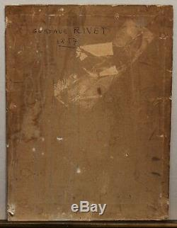 SUPERBE SCENE ROMANTIQUE 1857, G. RIVET XIXè