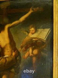 Saint François embrassant le Christ s. XVII