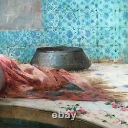 Serkis Diranian, Le bain ou Femmes au Hammam, Huile sur toile, orientaliste