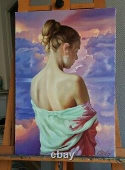 Skribins Tableau Peinture Huile Sur Toile 10p 55x38