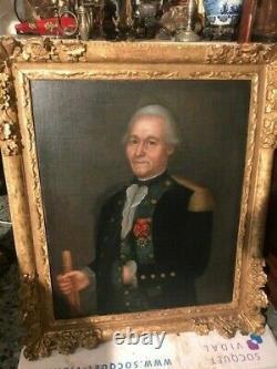 Super tableau portrait d un homme xviiie
