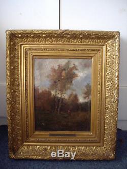 Superbe Huile Sur Toile Signee De Theodore Rousseau Barbizon Musee