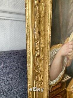 Superbe Portrait De Marquise Époque Louis XV SIGNE Et Date 1756
