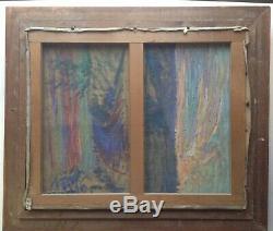 Superbe Tableau Impressionniste GARGILESSE à l'été 1910 Huile Ecole de CROZANT