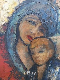 Superbe ancienne peinture huile sur toile Henri Maurice d'Anty