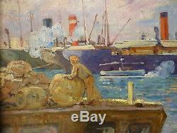 Superbe peinture marine. Huile sur toile signée D. Duchemin