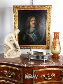 TABEAU / HUILE SUR PANNEAU PORTRAIT DU XVIIIè SIÈCLE D'UN GENTILHOMME EN ARMURE