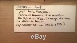 TABLEAU HUILE SUR TOILE ECOLE FRANCAISE 19 EME DUTRECH PAUL