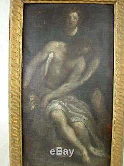 TABLEAU RELIGIEUX BAROQUE EP. XVIIè 1680 EC. ESPAGNOLE ITALIENNE HUILE /S TOILE