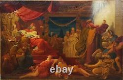 Tableau 19ème illustration bible ancien testament prophète Daniel Balthazar