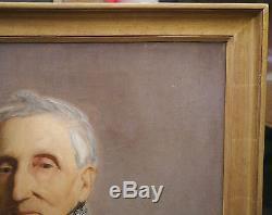Tableau Ancien Huile Portrait Homme Général EMPIRE Bonaparte 1800 Cadre Epinal