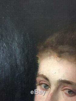 Tableau Ancien Huile Portrait de Jeune Femme Impressionniste Gout FANTIN LATOUR
