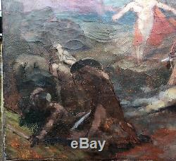 Tableau Ancien LOUIS BILLOTEY (1883-1940) Esquisse Mythologie Prix de Rome