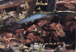 Tableau Ancien Symboliste Louis Welden HAWKINS (1849-1910) La Barrière c. 1895