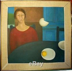 Tableau CLAUS Méditation huile sur toile datée 1964