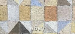 Tableau Huile Composition Abstraite Cubiste Patrick Depin Galerie Maeght 1998