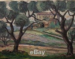 Tableau Huile Paysage Provence Porte Une Signature A. CHABAUD (1882-1955)