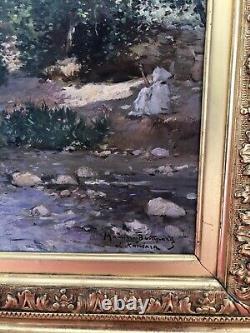 Tableau Huile Sur Toile Orientaliste Maurice Bompard