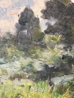 Tableau Impressionnisme Paysage Forestier Huile de Jules Cyrille Cavé 1859-1949