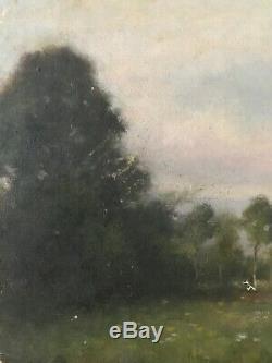 Tableau Impressionnisme Paysage de Campagne Peinture de Jules C. Cavé 1859-1949