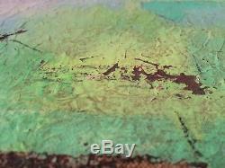 Tableau Impressionniste (XIX-XXe) Dans le gout de Paul KLEE Marine Barques Huile