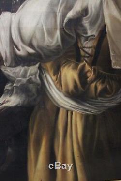 Tableau Judith et sa Servante Ecole Italienne XIXème siècle
