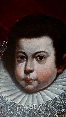 Tableau PORTRAIT JEUNE PRINCE HUILE XVI/XVII s. Au Toison d'or Flandres Pourbus