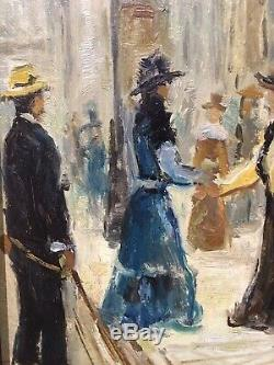 Tableau Peinture Cadre 19è XIXè 20è XXè Timonier Paris Elégantes Réalisme ancien