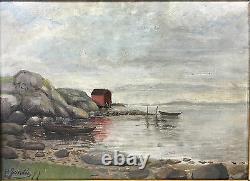 Tableau / Peinture / Huile Sur Toile École Française Du 19eme Signée H. Sondee
