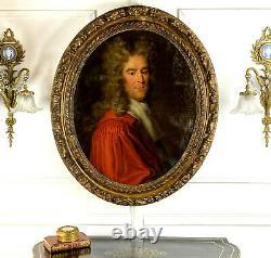 Tableau / Peinture / Huile Sur Toile Vers 1720 Portrait D Un Magistrat
