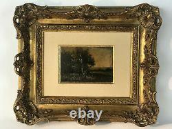 Tableau / Peinture / Huile Sur Toile (paysanne Au Champs) Bien Encadré 36 X 30
