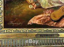 Tableau / Peinture /huile Sur Toile La Petite Fille Et Son Chien De Reynart