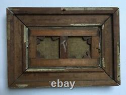 Tableau ancien, Huile sur toile, Ecole de Barbizon, Lavandières, Cadre, XIXe
