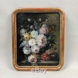 Tableau ancien, bouquet de fleurs par Peter Paul Muller (1853-1930)