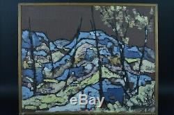Tableau ancien école Française expressionniste Daniel David Fontainebleau Agen