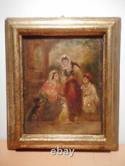 Tableau ancien orientaliste peinture ancienne 19 siècle femme orientale