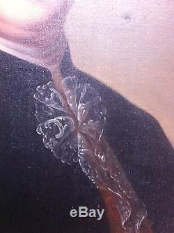 Tableau ancien portrait XVIIIéme huile sur toile
