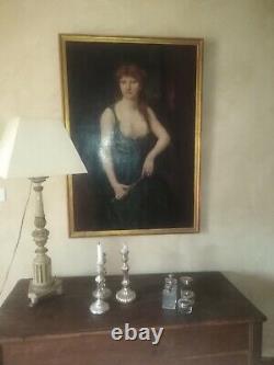 Tableau ancien religieux symboliste Judith orientaliste portrait Falguière