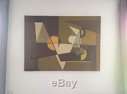 Tableau huile de Charles MERANGEL (1908-1993) cubiste école de paris abstrait