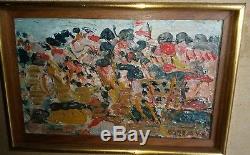 Tableau huile sur toile André Cottavoz École de Paris paysage