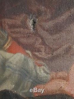 Tableau huile sur toile Vénus et Cupidon mythologie XIXème 19ème